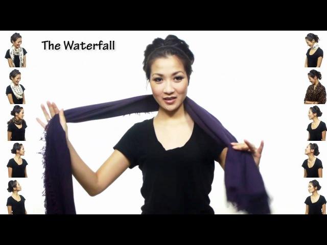 25 способов носить шарф за 4,5 минуты!