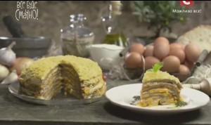 Печеночный торт, домашний майнез, адыгейская соль