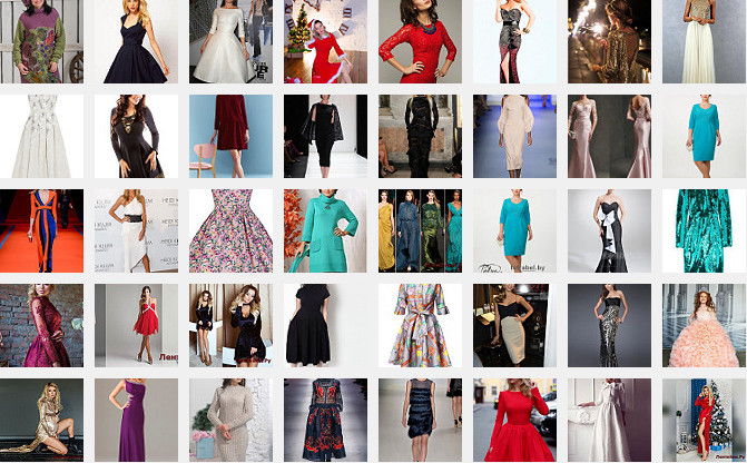 Платье на Новый год 1 (Модели № 1-50)