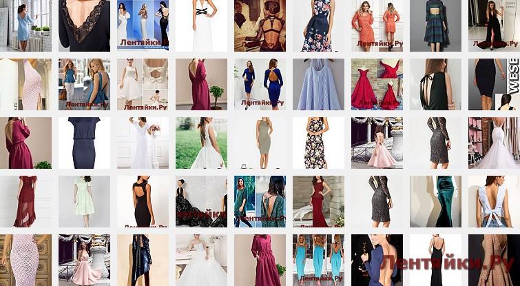 Платье с открытой спиной 6