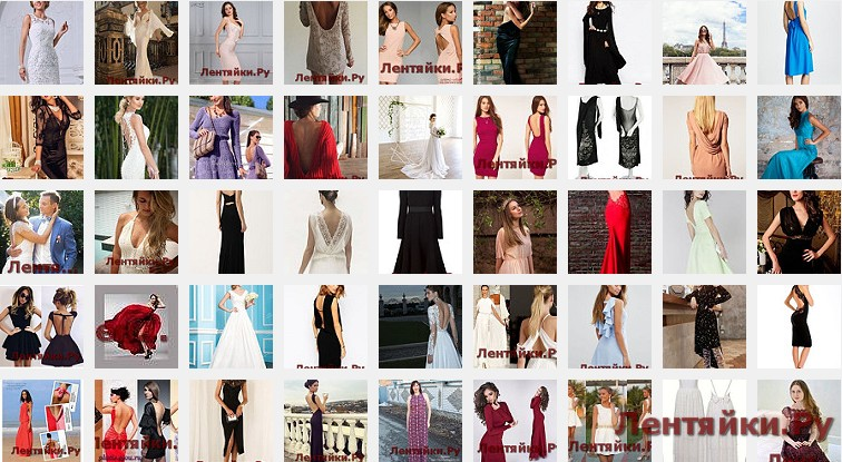 Платье с открытой спиной 8