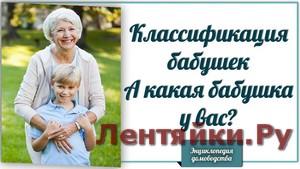 Классификация бабушек. А какая бабушка у вас?